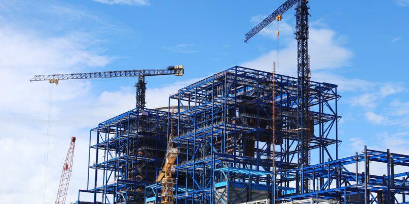 bouwplaats met gietwerk componenten van ELCEE uit de bouwnijverheid