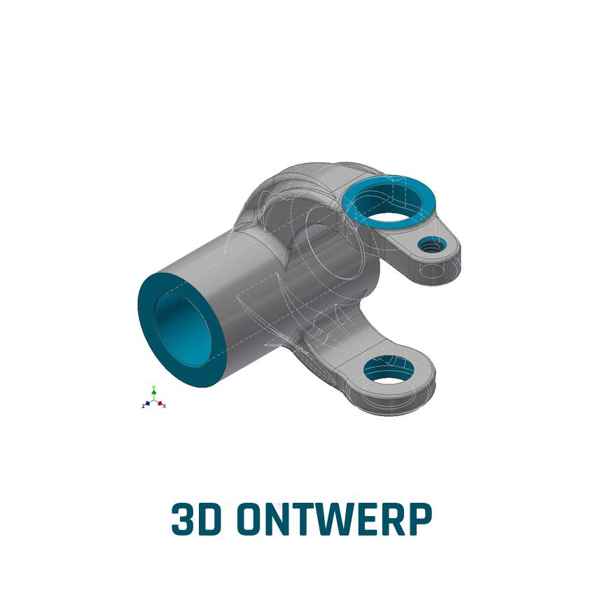 ELCEE voorbeeld van een 3D ontwerp industrieel component