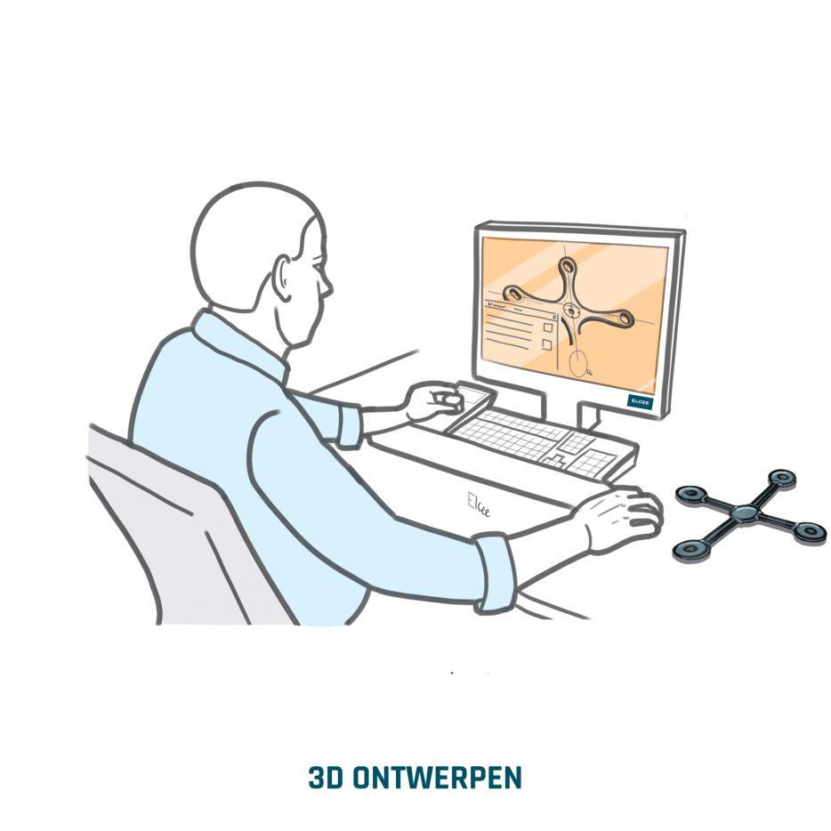 ELCEE 3D ONTWERPEN van een industrieel component