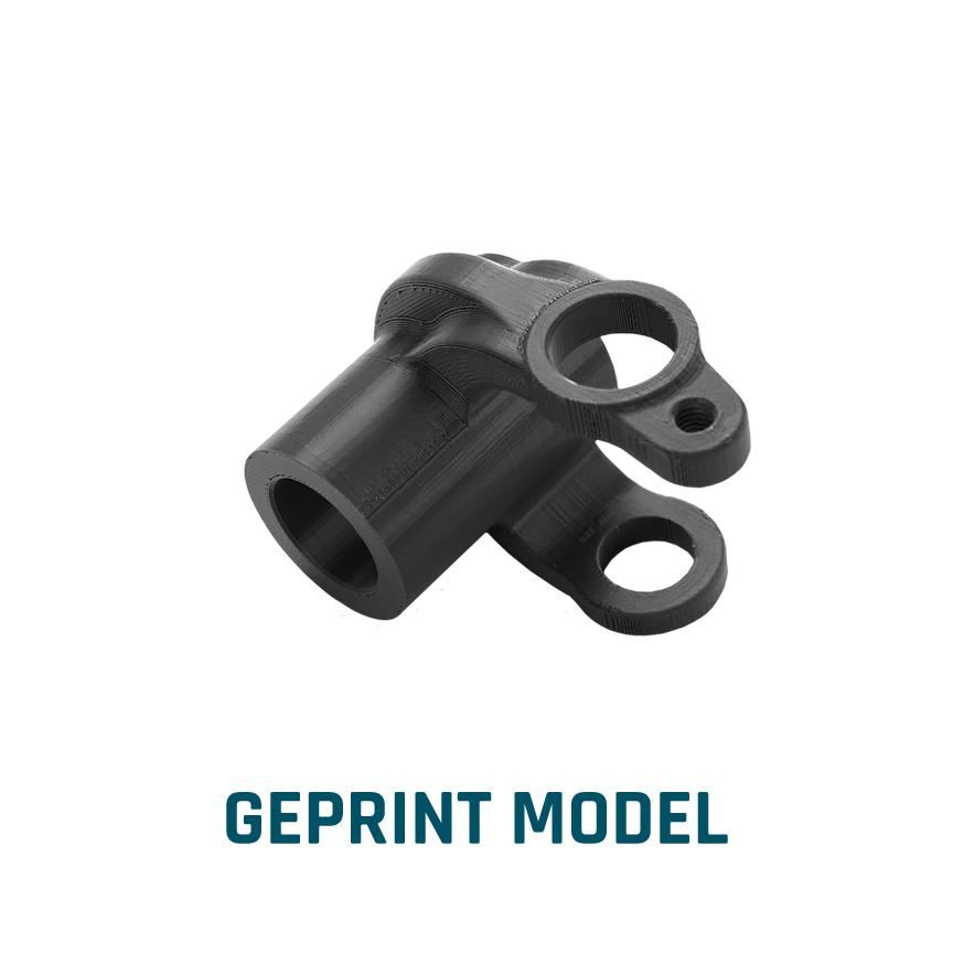 ELCEE voorbeeld van een geprint model industrieel component