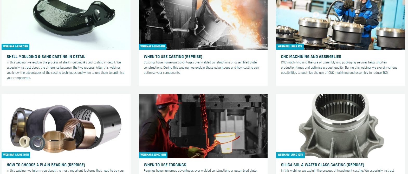 6 pictogrammen die onze online webinars van juni weergeven