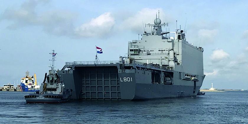 Groot schip waar ELCEE sferische lagers aan heeft geleverd