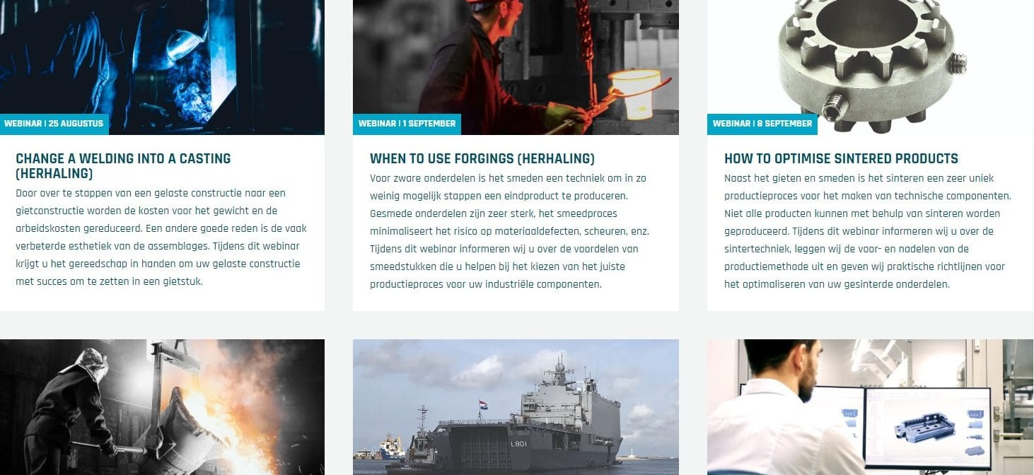 Overzicht van de beschikbare webinars die u kunt volgen bij ELCEE
