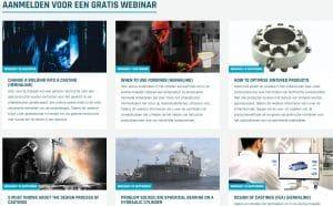 Foto van de verschillende webinars die u kunt volgen bij ELCEE